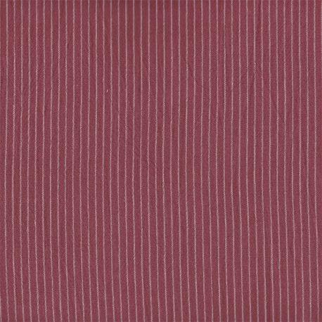 Coton rayures tissées fines santal
