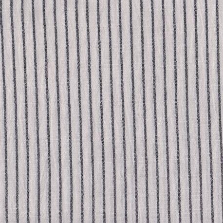 Coton rayures tissées larges écru