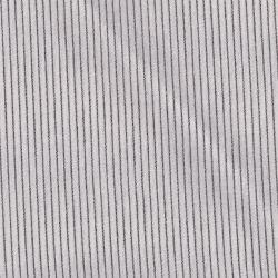 Coton rayures tissées fines écru