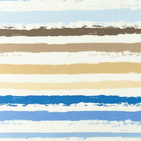 Jersey rayures peinture bleu
