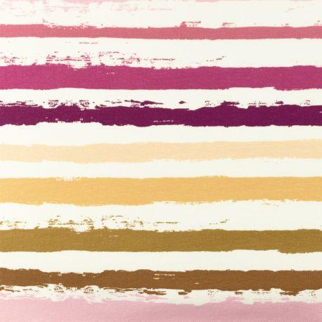 Jersey rayures peinture rose