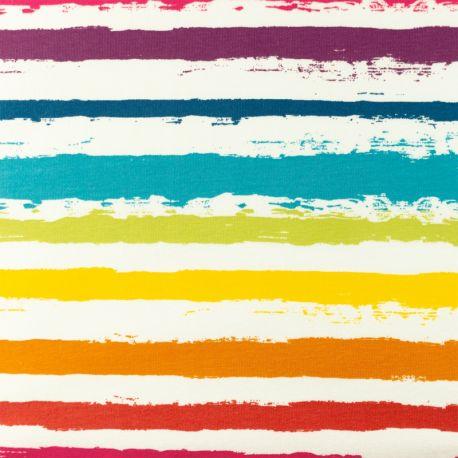 Jersey rayures peinture multi