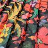 Crêpe plissé couleurs vives