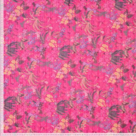 Crêpe plissé rose