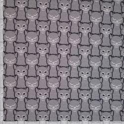 Jersey jacquard têtes de chat