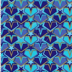 Lycra recyclé star blue
