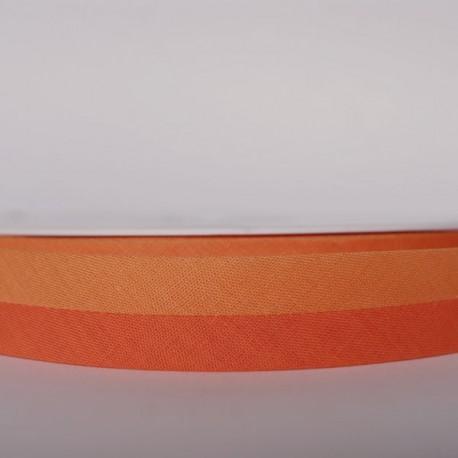 Biais bicolore orange