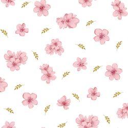 Jersey modal flowers ivoire