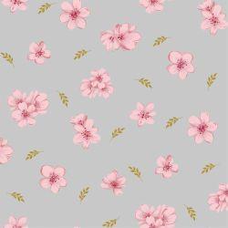 Jersey modal flowers gris perle