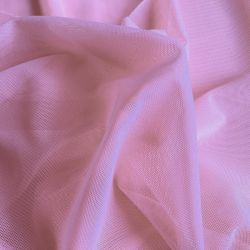 Tulle stretch rose clair