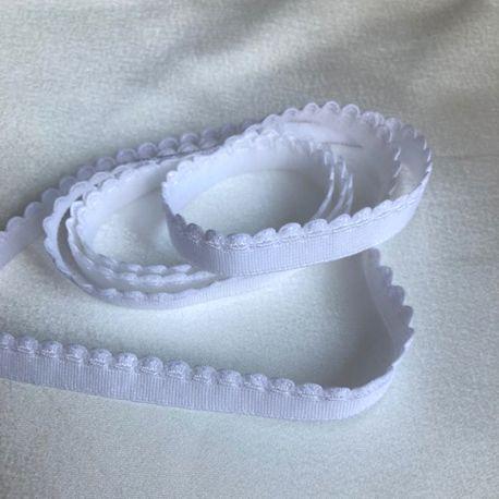 Élastique festons arc blanc