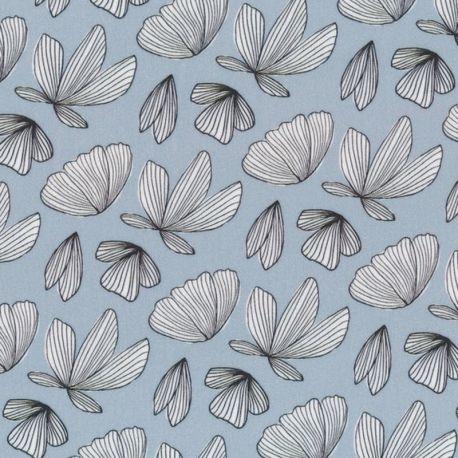 Viscose boho fly bleu/gris