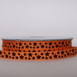 Ruban étoiles noires orange