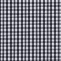 Coton vichy 6 mm noir
