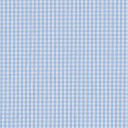 Coton vichy 3 mm ciel