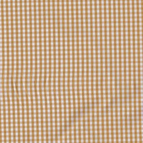 Coton vichy 3 mm safran