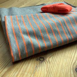Kit culotte Éternité Variante 1 grande taille rayures fluo orange