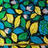 Wax feuilles turquoise/jaune