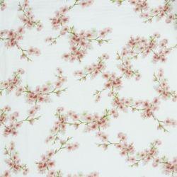 Double gaze bio blossom blanc