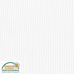 Jersey viscose côtes fines blanc
