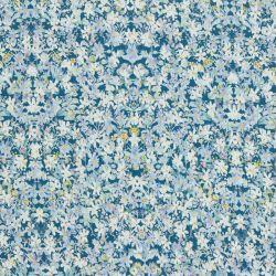 Viscose fleur bleue