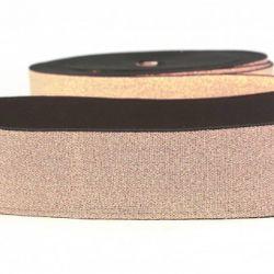 Élastique lingerie 40 mm métal or rose