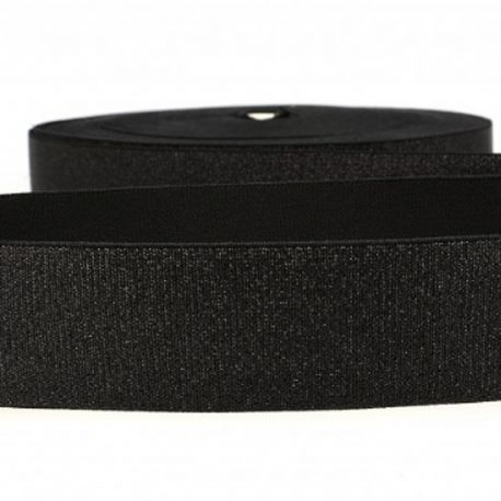 Élastique lingerie 40 mm métal noir