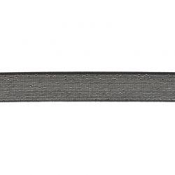 Élastique 18 mm métal noir/argent