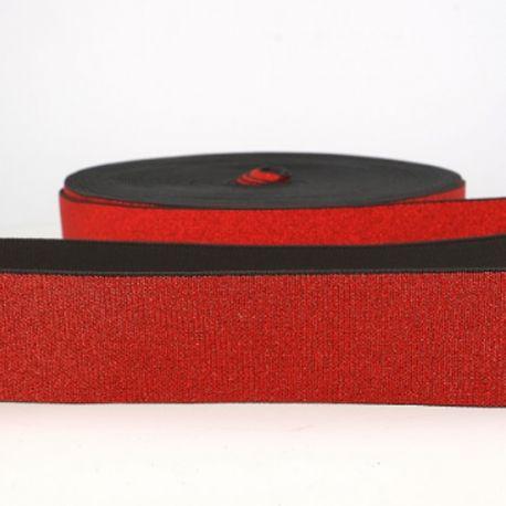 Élastique lingerie 40 mm métal rouge