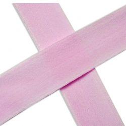 Biais élastique préplié mat baby rose-20mm