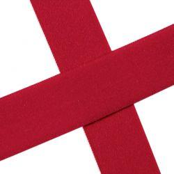 Biais élastique préplié mat rouge-20mm