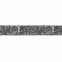Biais élastique préplié léopard gris-25mm