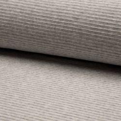 Jersey velours côtelé gris chiné clair