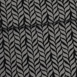 Jersey bio plait gris foncé