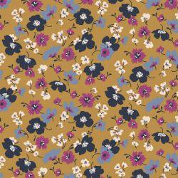 Jersey modal flowers ocre