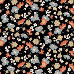 Jersey modal flowers noir