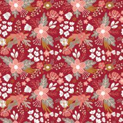 Jersey bio flowers rouge foncé