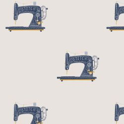 Toile canvas gold sewing machine