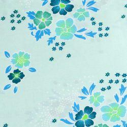 Coton folksy bleu opalin