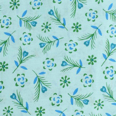 Coton gitane bleu opalin