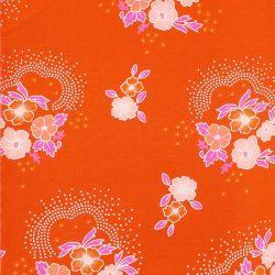 Coton folksy tangerine
