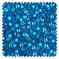 Coton flower power indigo