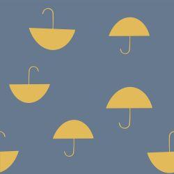 Sweat molletonné umbrella bleu tourmaline