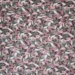 Jersey bambou leaves beige
