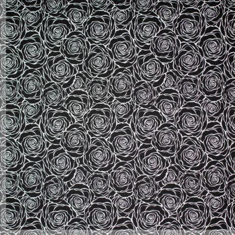 Jersey roses noir/blanc