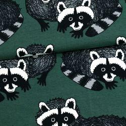 Jersey bio raccoon vert foncé