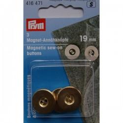 Boutons magnétiques à coudre 19 mm