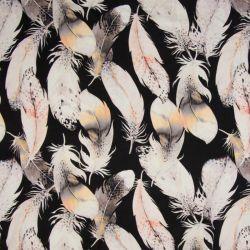 Lycra sport feathers black