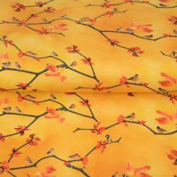 Jersey un oiseau sur la branche jaune soleil
