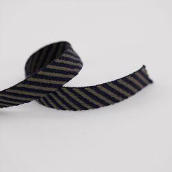 Sangle diagonale bleu foncé/kaki